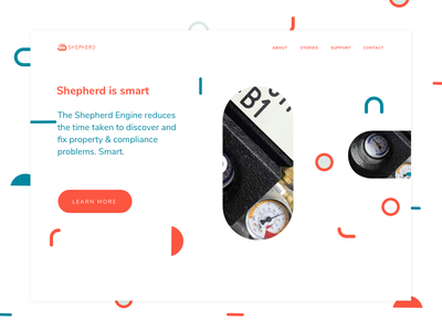 Shepherd Homepage whitespace homepage duotone minimalism