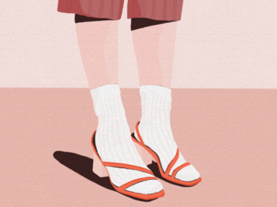 sandalswithsocks colors sandals socks drawing illustration