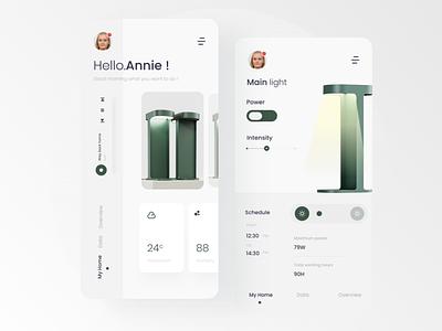 Smart Home App minimal interaction design ui interaction ux design interface appdesign uxdesign uidesign app smart home smart