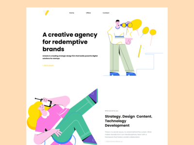 Agency landing page landing design uiux landing page design landingpage web uidesign interaction design minimal ui interaction