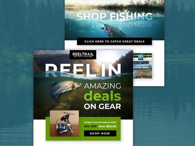 ReelTrail Fishing Mailer Design