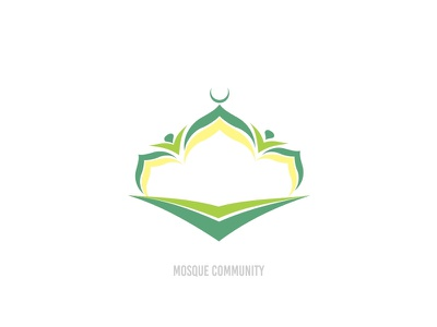 Mosque Community Logo organization eco green vector identity branding logo mosque community