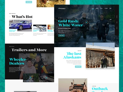 Discovery Channel Home page concept
