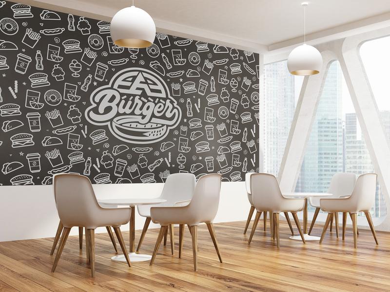 EAE Burger Wall Branding