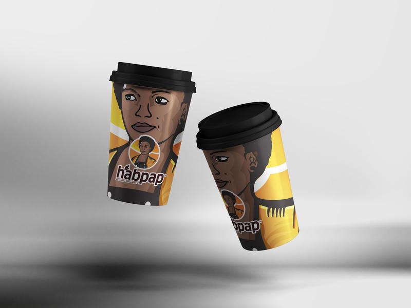 Habpap Disposable Coffee Cup illustration logomaker brand logodesigns customlogo identity logosai logonew logodose branding logogrid logoimport logoinspirations logoawesome logo-showcase logoexpose logoexcellent logodesign