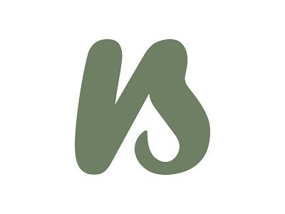 NS | Personal Logo branding ns s n green monogram logo
