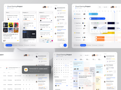 Project Management timeline task statistics saas roadmap project management popular ipadpro ipad ios grant enterprise admin dashboard component chart card calendar blue b2b admin