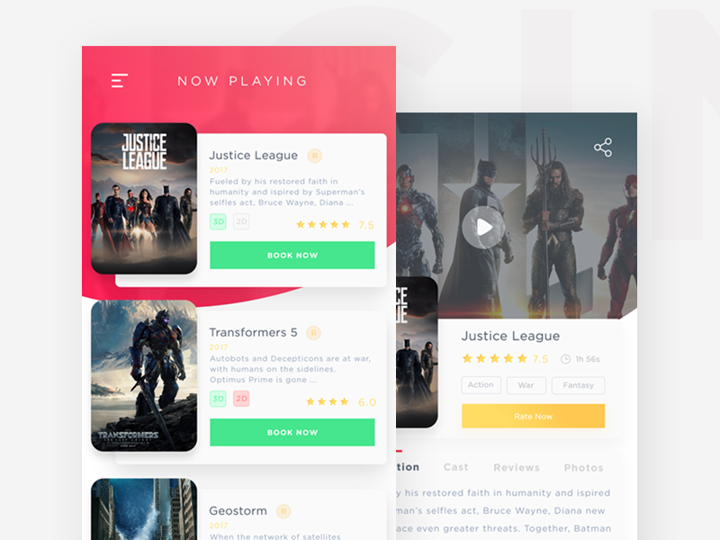 Cinema App ticket rating mobile app mobile review imdb movie booking book film cinema cinema app