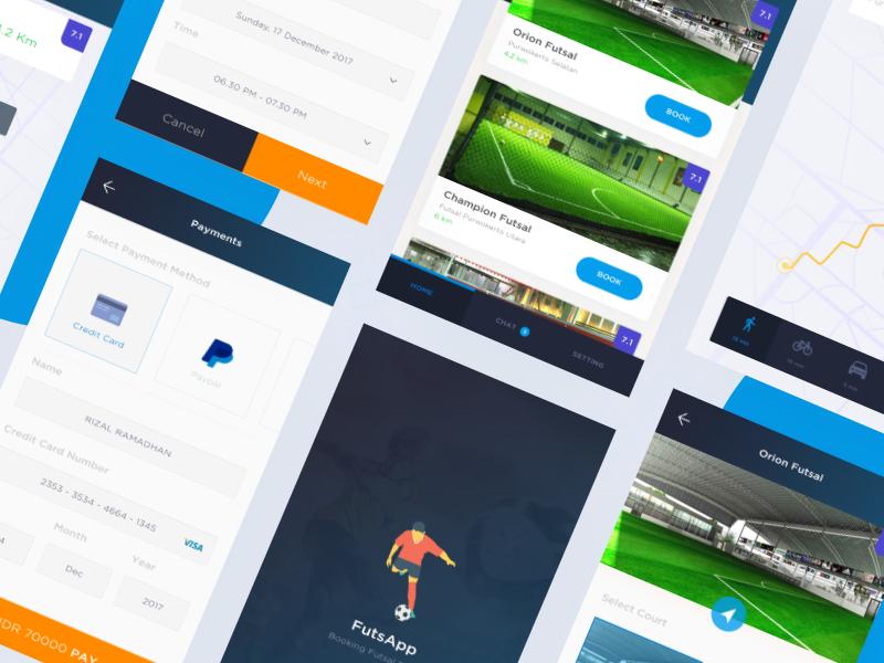 #Exploration   Futsal Booking grey black clean study case exploration futsal android ios app mobile app sport soccer