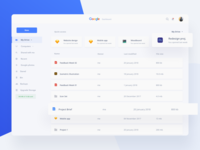 Google Services Dashboard Concept - Google Drive