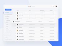 Google Service Dashboard Concept - Contact