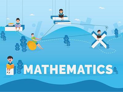 Mathematics - Concept Illustration vector flat  design adobe graphic  design poster concept design illustration mathematics maths