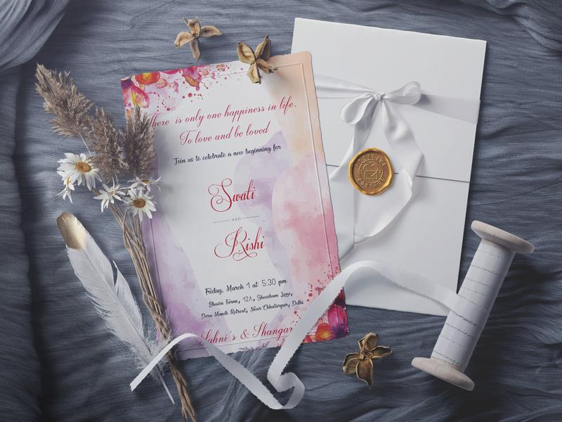 Wedding Invitation Design wedding card cards typography illustrator cc vintage design einvite card design adobe graphic  design invite design design wedding invite wedding invitation