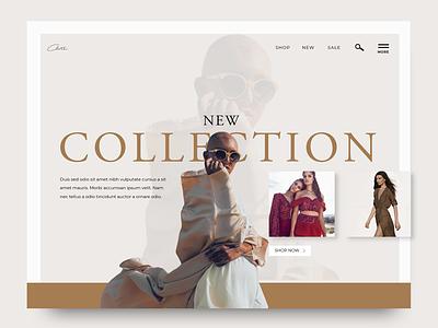 Fashion Landing Page branding web design ui