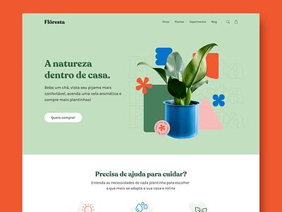 Flôresta / UI Design landing page web design homepage ecommerce ui design webdesign ui ux branding plants nature design