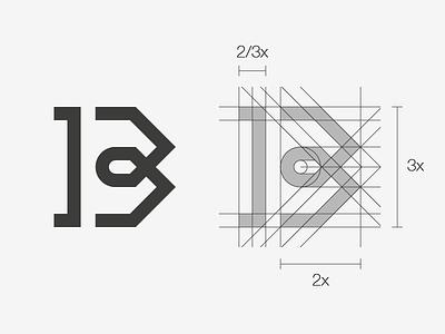 bm logotype logo design grid logotype logo