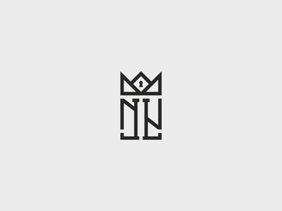 No-Limit Luxury monogram symbol logotype mark identity logo
