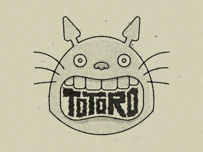 Totoro illustration texture my neighbour totoro studio ghibli totoro