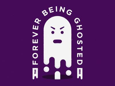 GHOSTED business distressedunrest logoinspirations art graphicdesign ghosted logodesigner logo badgedesign freelance design