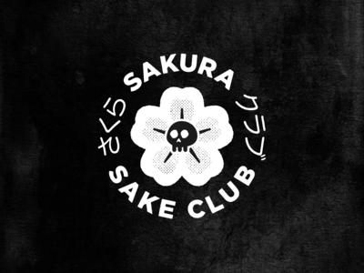 Sakura Sake Club badge logo true grit texture supply texture japan