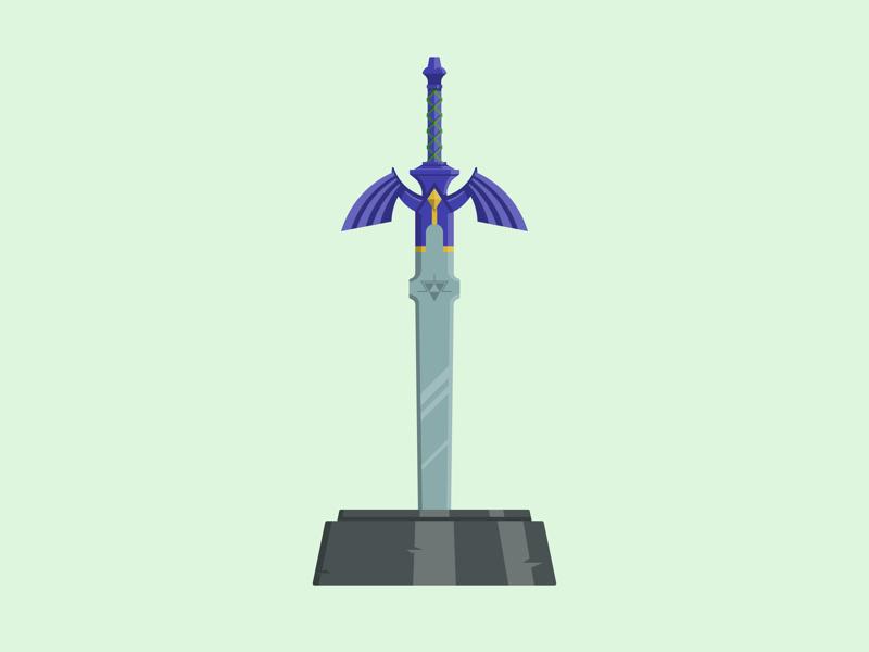 Master Sword vector illustration nintendo gaming master sword zelda