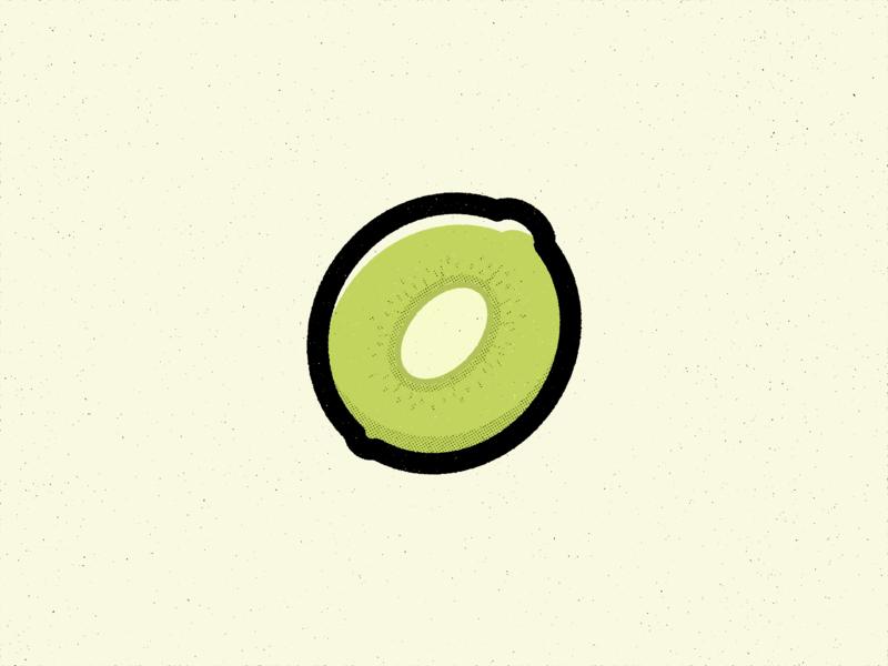 K Is For Kiwi kiwi food true grit texture supply alphabet texture design vector illustration