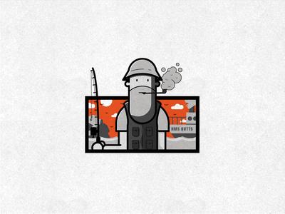 Sid Seadog texture character design fisherman illustration