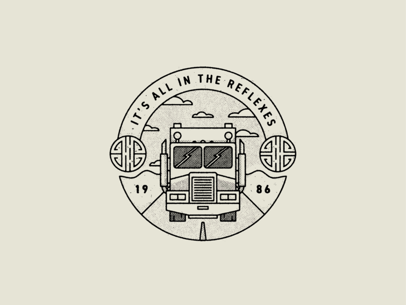 It's All In The Reflexes movies films big trouble in little china badge logo true grit texture supply design texture vector illustration