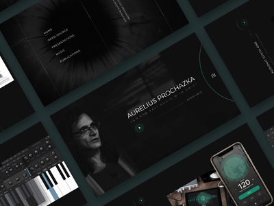 Developer's Personal Website personal branding landing ui personal header black web design user interface clean design ui design
