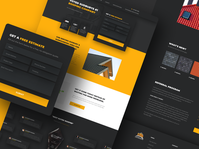 Website for a roofing company web deisgn website corporate clean landing web design user interface design ui design redesign webdesign canadian canada roofing roof