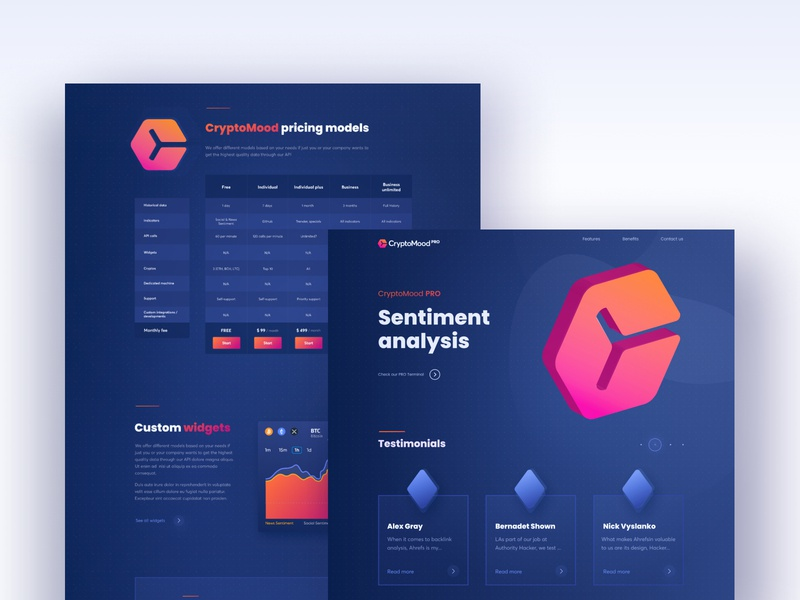 CryptoMood Pro web desgin webdesign clean landing ui design design user interface illustraion web design ui crypto wallet crypto currency cryptocurrency crypto