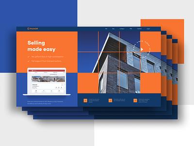 Real Estate website redesign header ui clean web design user interface design ui design realestate real estate