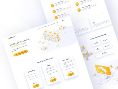 Feldhost website design hosting template hosting company hosting service hosting flat minimal clean header web design