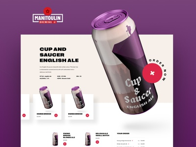 Manitoulin Brewing web design ui design beer branding beer art beer can beer brewing brew brewery