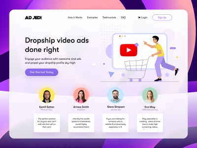 Ad Jedi - video production studio header video videoproduction production webdesign ads promo video illustraion header illustration