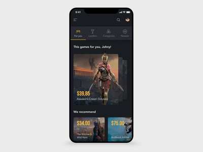 Steam App Redesign uxui ux app motion dailyui ui design animation mobile interaction uianimation