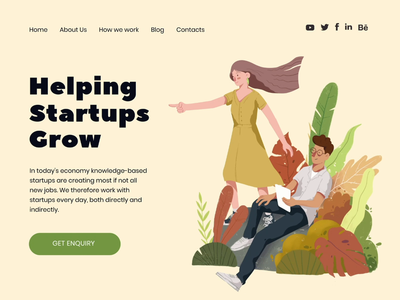 Helping Startups Grow header