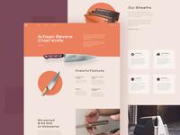 Knifes Landing Page Design