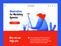 The Illustrators landing page design