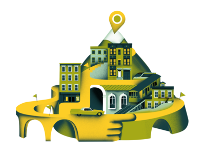 Illustration for map service website