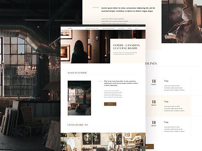 CCPERB landing page design minimalist clean typography ui web design ui design landingpage canadian canada