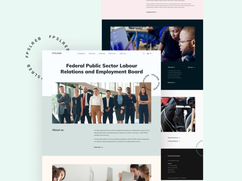 FRSLREB landing page typography design ui minimalistic clean landing web design ui design