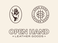 Open Hand Leather Goods brand concept 1