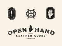 Open Hand Leather Goods brand concept 2
