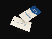 Hang tags for Little Shawnee Candle Co. earthy icon blue logo tags packaging brand