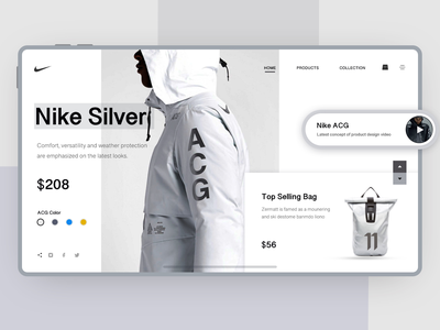 Nike concept web page layout design graphic design branding banner sports website clothing shopping sites conceptual site brand design 应用程序 ui web design 用户界面