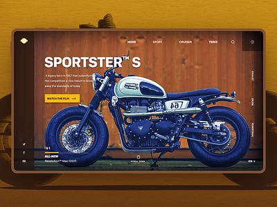 Motorcycle website design motorcycle website motorcycle sports website layout design conceptual site banner graphic design ui design 应用程序 用户界面 brand web design