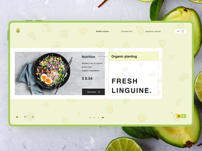 Concept web design for healthy eating health own oil fruit food catering motion graphics layout design branding illustration design graphic design ui 应用程序 用户界面 web design
