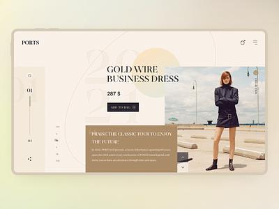 Fashion Women's Wear Website Design 用户界面 motion graphics animation minimal design headphone website home page concept website logo graphic design web design layout design ui