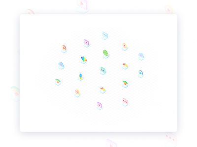 2.5D ICONS 品牌 网页设计 插图 icon